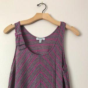Olsenboye Dresses - Olsenboye midi asymmetric striped dress